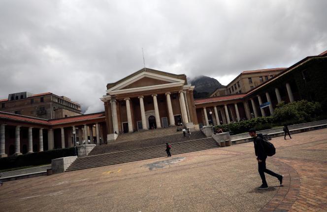 L'université du Cap, en Afrique du Sud, le 13novembre 2017.
