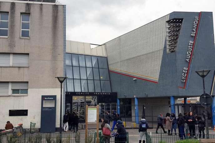 Le lycée Auguste-Blanqui de Saint-Ouen (Seine-Saint-Denis), en mars 2017. Il fait partie des établissements ayant signé une convention CEP avec Sciences Po.