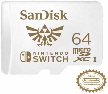Si vous n'avez pas besoin de 128 Go La carte MicroSDXC pour Nintendo Switch (64 Go) de SanDisk