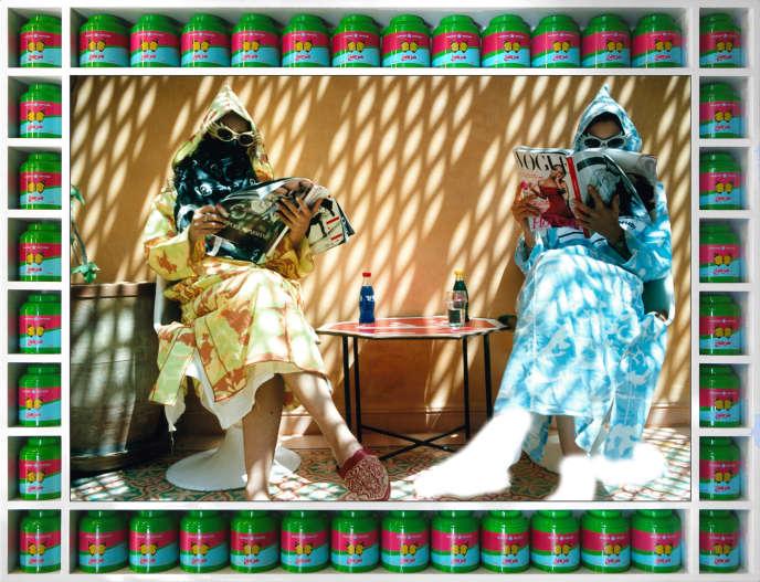 «Time Out», photo deHassan Hajjaj extraite de la série « Vogue : The Arab Issue ».