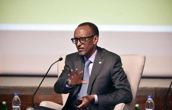 Le président rwandais, Paul Kagame, à Abidjan, en Côte d'Ivoire, le 14octobre 2019.