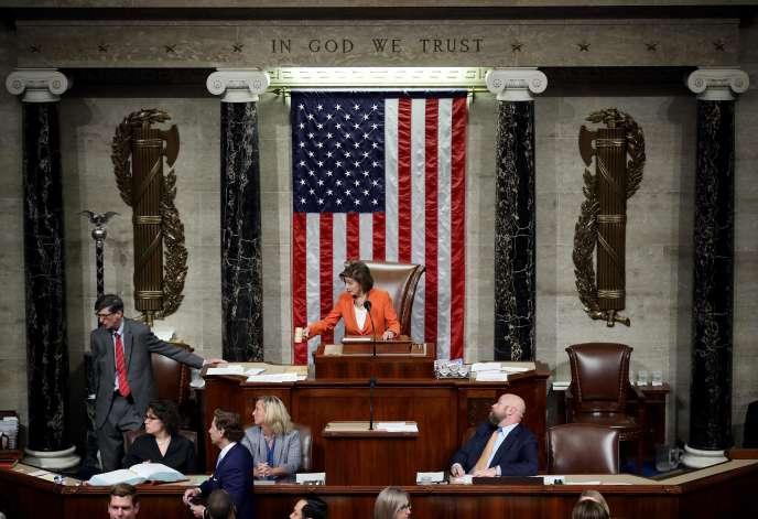 LaChambre des représentants a approuvé l'enquête en vue d'une procédure de destitution contre Donald Trump, le 31 octobre à Washington.