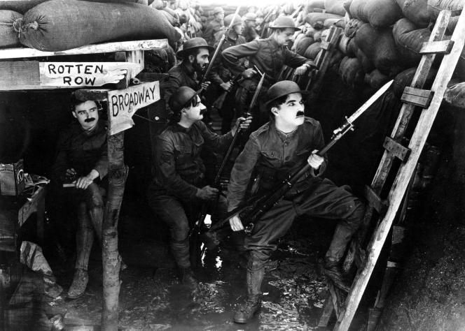 « Le Rêve de Charlot soldat», 1918.