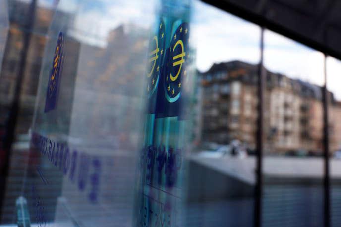 Au siège de la Banque centrale européenne (BCE), à Francfort, le 7 mars.