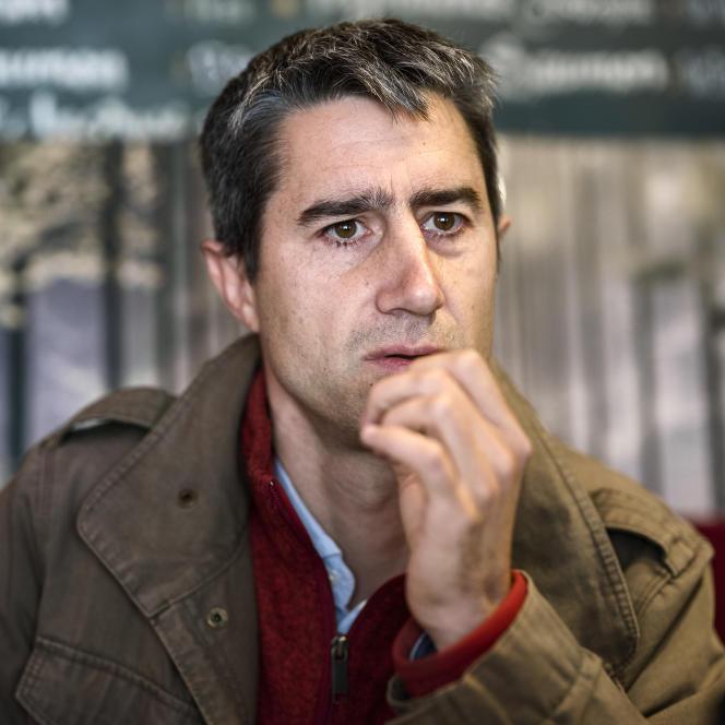 Le député (LFI) François Ruffin au Café La Ville d'Aulnay, à Paris, le 28 octobre.