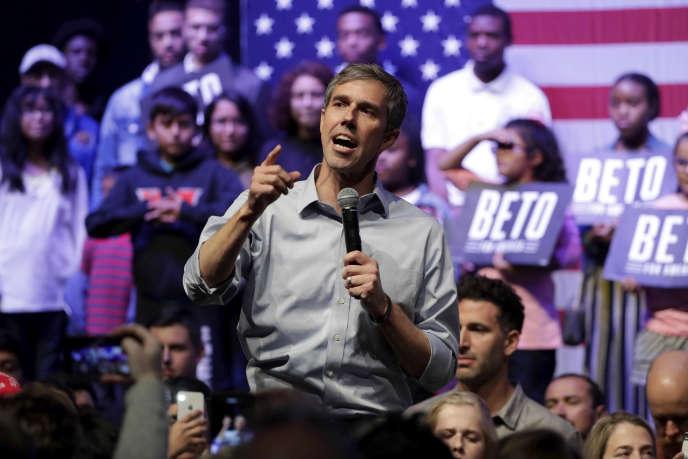 Beto O'Rourke, lors d'un meeting de campagne à Grand Prairie, au Texas.