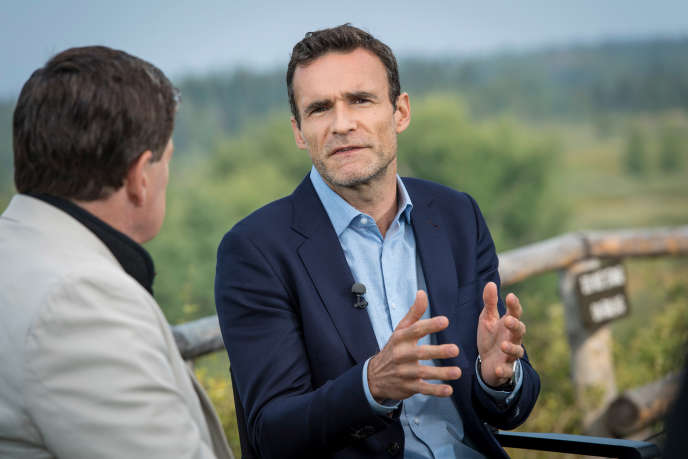 Thomas Philippon, professeur de finances à la New York University lors d'une interview accordée à la chaîne Bloomberg, le 24 août 2018.