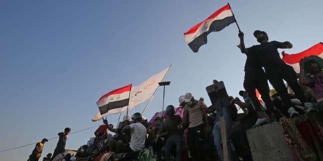 En Irak, l'une des plus grosses manifestations depuis le début delacontestation