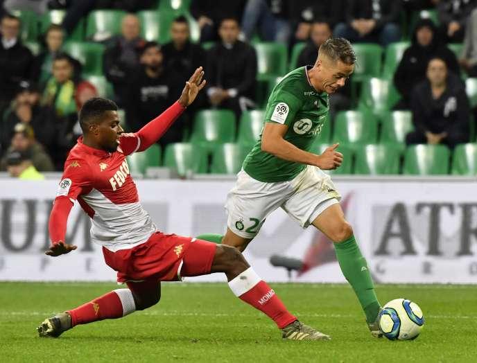 Nouvelle victoire pour les Verts de Romain Hamouma, passeur décisif contre Monaco, dimanche 3 novembre au stade Geoffroy-Guichard de Saint-Etienne.