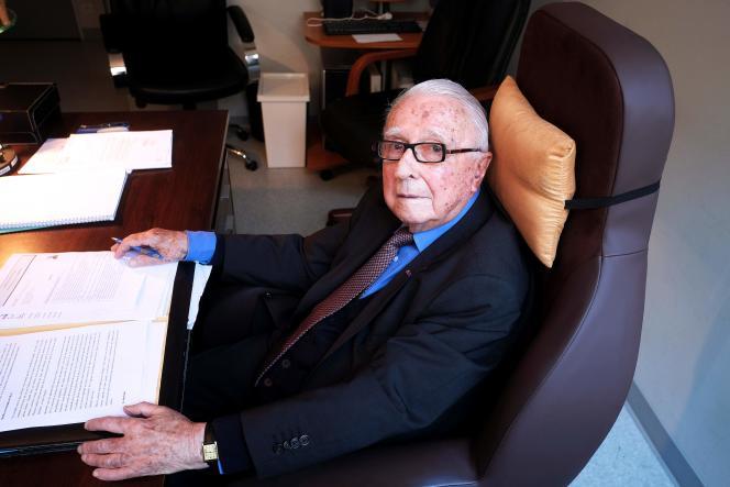 Louis Lareng, fondateur des services d'urgence du SAMU, le 27 juin 2016.