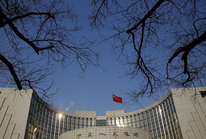 Au siège de la Bank of China, à Pékin, en 2016.