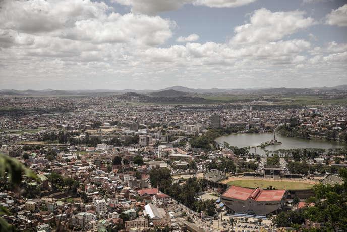 Vue générale de la capitale de Madagascar, Antananarivo, en décembre 2018.