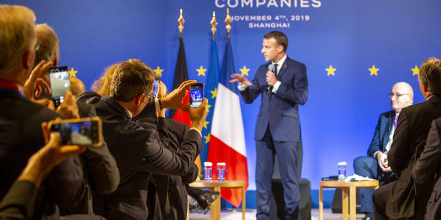 A Shanghaï, Emmanuel Macron appelle la Chine à s'ouvrir davantage