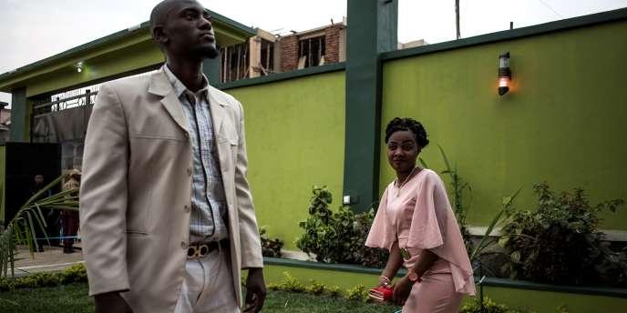 Un jeune couple congolais, en février 2018.