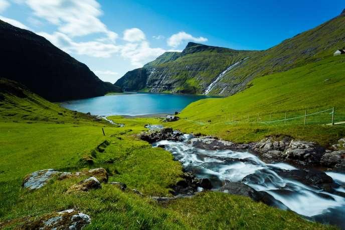 Cảnh trong quần đảo Faroe.