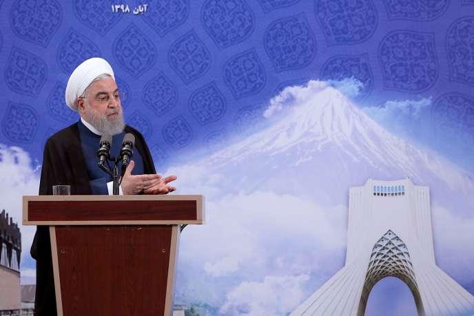 Le président iranien Hassan Rohani à Téhéran, le 5 novembre.