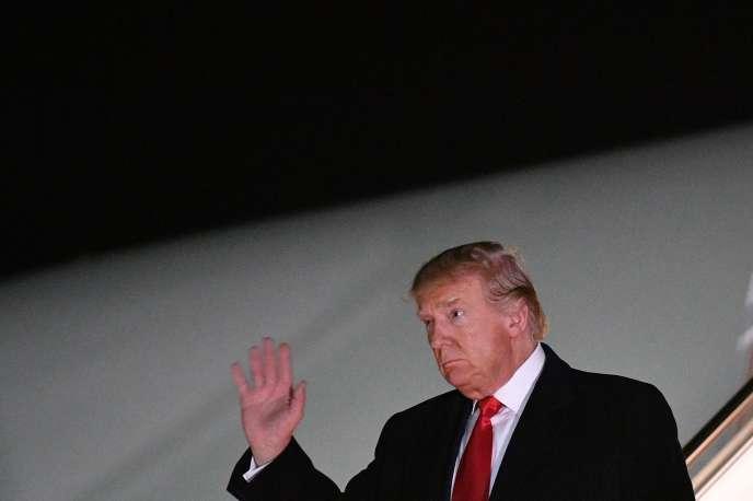 Donald Trump dans l'Etat duMaryland, le 4 novembre.