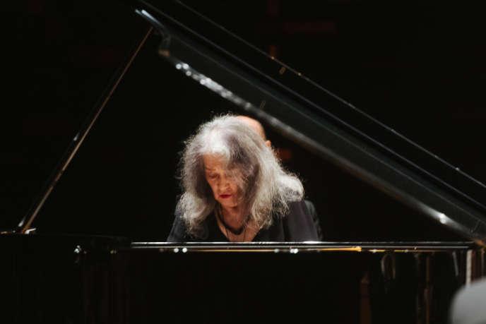 Martha Argerich, le 4 novembre, à la Philharmonie de Paris.