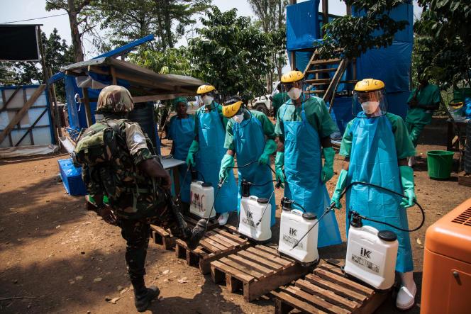 A Mangina, dans la province du Nord-Kivu, le 1er septembre 2019. L'épidémie d'Ebola a déjà tué 2185 personnes en République démocratique de Congo (RDC).
