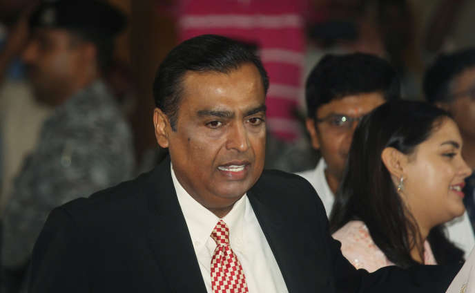 Mukesh Ambani, patron du conglomérat Reliance Industries Limited et première fortune d'Inde, à Bombay, le 12 août.