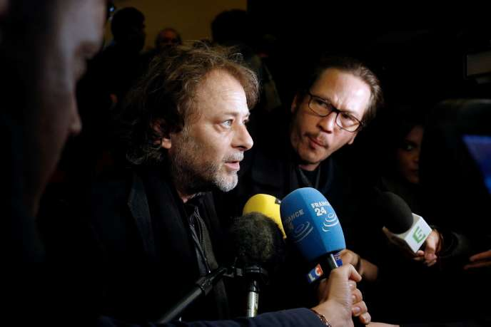 Christophe Ruggia lors d'une conférence de presse pour le lancement de la pétition «L'appel de Calais», en 2015, à Paris.