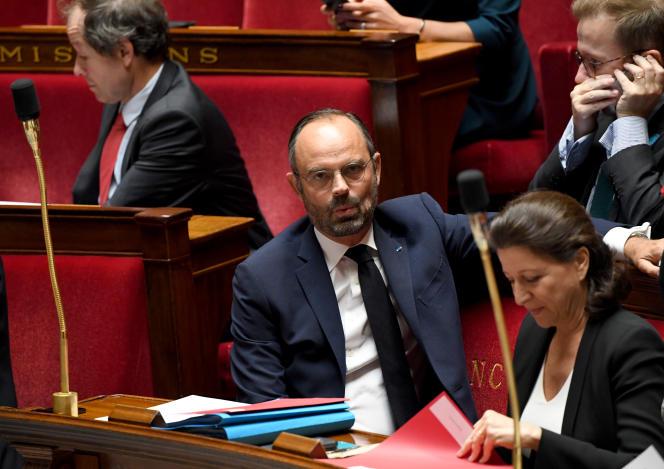 Edouard Philippe et Agnès Buzyn à l'Assemblée Nationale lors du débat sur l'immigration, le 7 octobre.