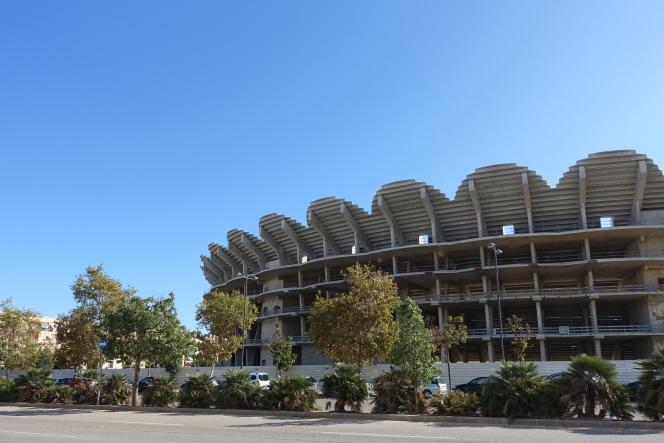 Le Nou Mestalla,« coliséeinachevé» de Valence.