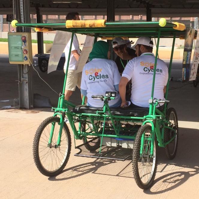 Le quadricycle Solar E-Cycles à Salé, au nord de Rabat, le 12 septembre 2015.