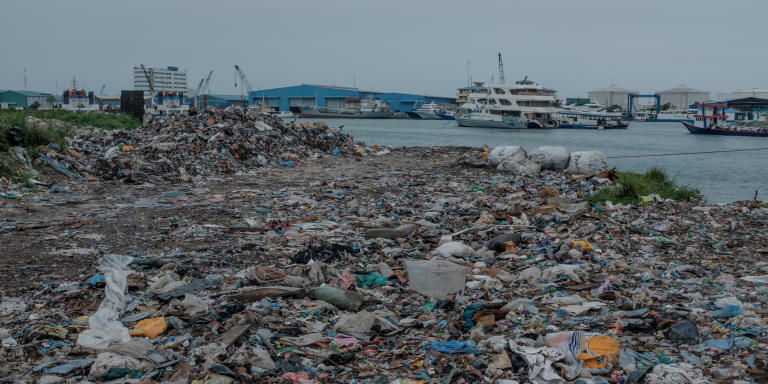 Thilafushi garbage disposal site. (these particular images are mainly for Adrien's article on Waste Management in the Maldives)