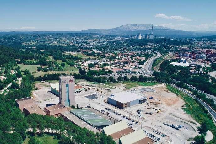 L'ancien carreau de mine du puits Yvon-Morandat, à Gardanne (Bouches-du-Rhône).