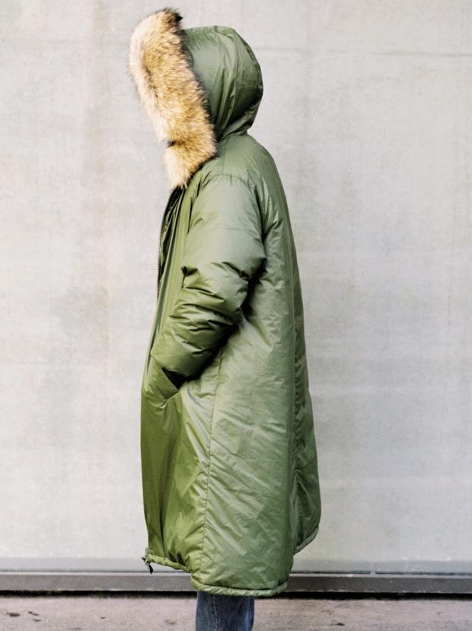 Parka en nylon, Yves Salomon, 1 400 €. yves-salomon.com.Stylisme Laëtitia LEPORCQ