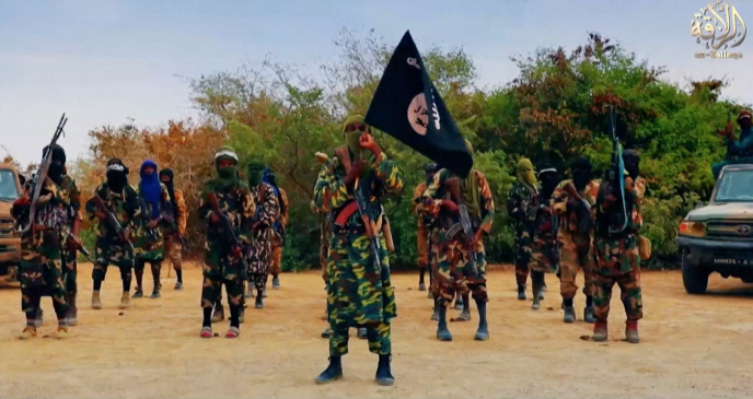 Image de propagande de la katiba Macina d'Amadou Koufa, au Mali, tirée de la vidéo de Florian Plaucheur.