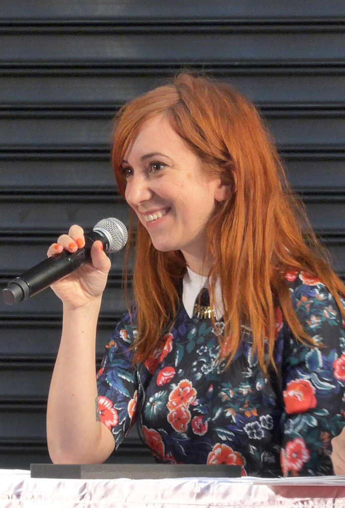 Pénélope Bagieu à Tokyo, en novembre 2014.