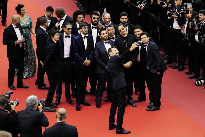 Le 15mai à Cannes, les membres du collectif Kourtrajmésoutiennent Ladj Ly, qui présente «Les Misérables ».