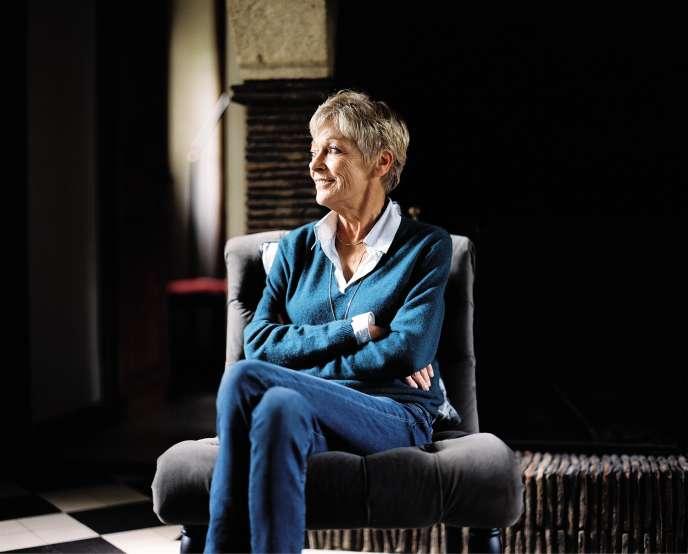 Françoise Bourdin chez elle à Port-Mort, en Normandie, le 15 octobre.
