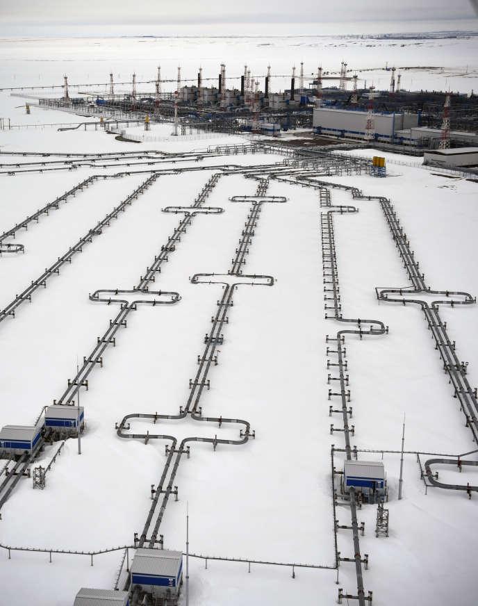 Sur le gigantesque site gazier de Yamal, en Sibérie arctique, en mai.