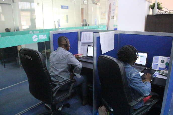 Le centre de télémédecine Bima dans le quartier d'Alajo à Accra, en octobre 2019.
