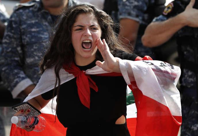 Manifestation devant le ministère de l'éducation à Beyrouth, le 6 novembre.