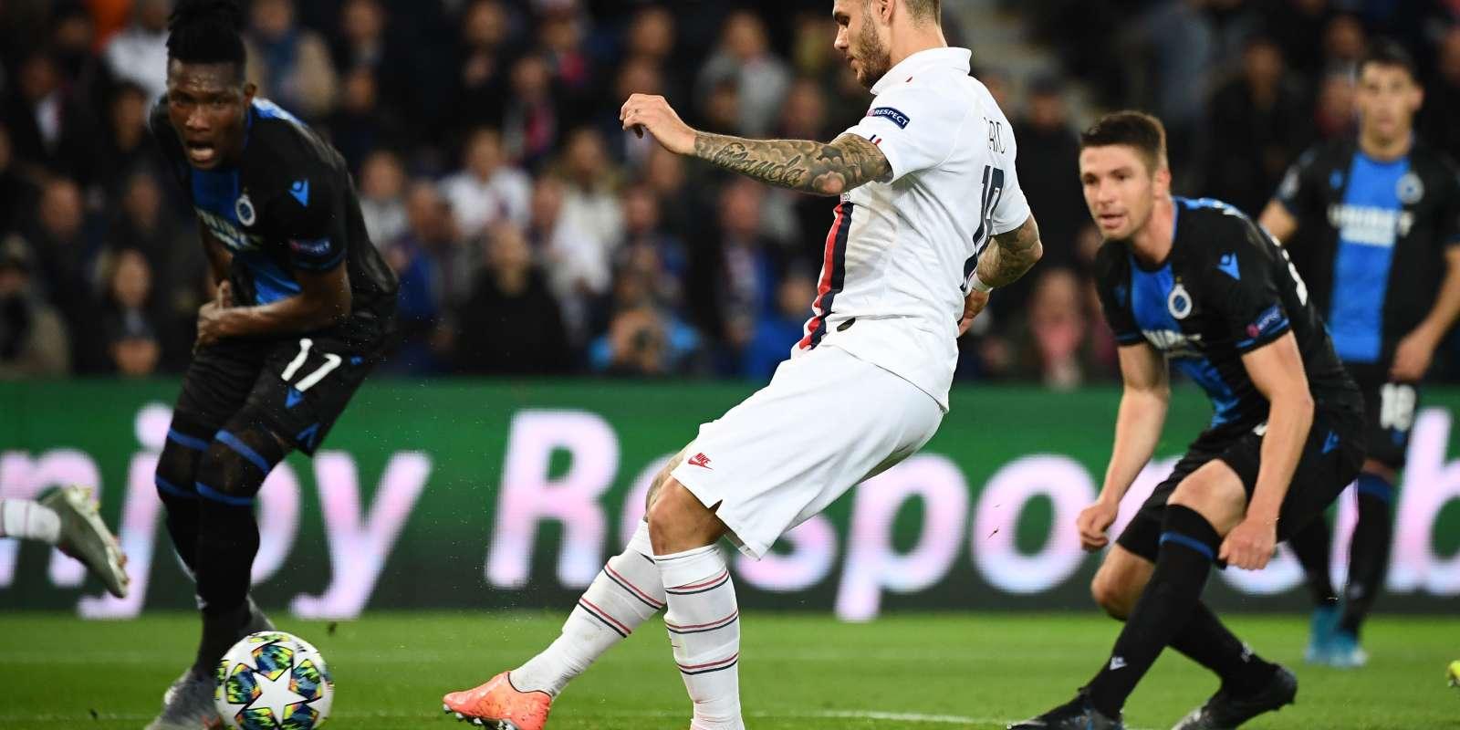 Mauro Icardi a ouvert le score à la 22e minute du match contre Bruges, au Parc des Princes, mercredi 6 novembre