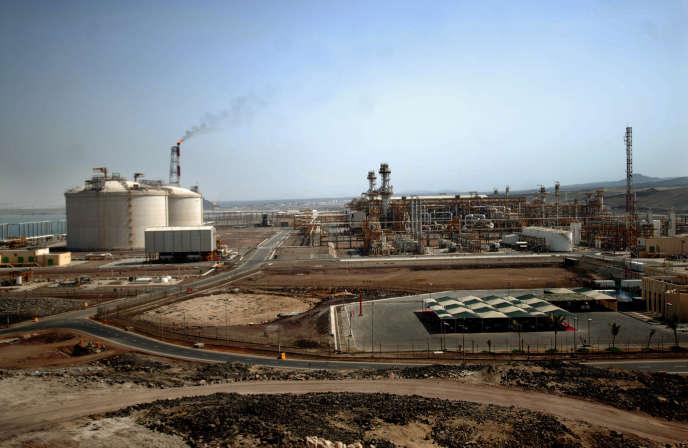 Le terminal gazier de Yemen LNG, à Balhaf, au sud-est du pays, en juin 2010, quelques mois après sa mise en service.
