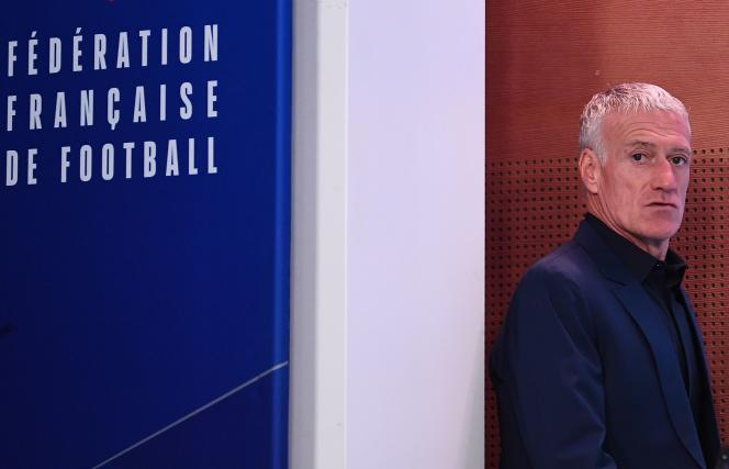 Didier Deschamps, au siège parisien de la Fédération française de football, le 7 novembre.