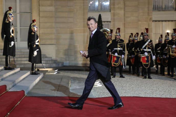 Bernard Charlès, directeur général de Dassault Systèmes (ici à L'Elysée, en mars), a été le dirigeant le mieux payé de France en 2018, avec 33,1 millions d'euros.