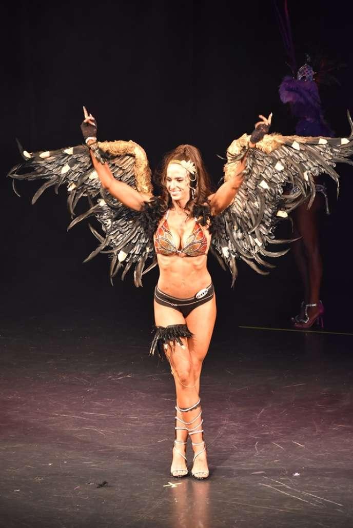 Anne Amor, le jour de sa victoire au concours de« bikini glamour» du championnat d'Europe, le 26 octobre, à Bucarest.