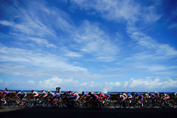 Aux championnats de cyclisme des Caraïbes, à La Havane (Cuba), le 3 novembre 2019.