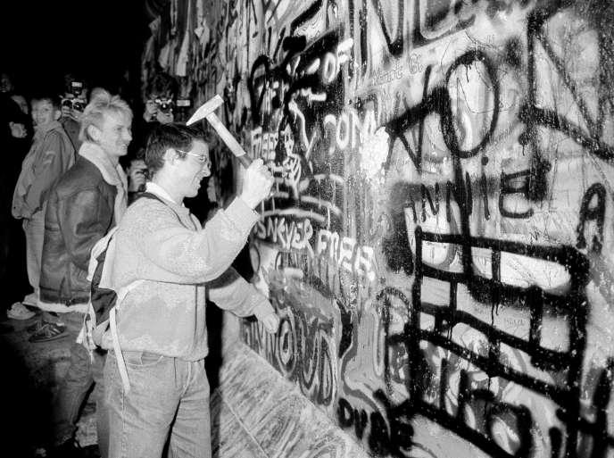 A Berlin, le 9 novembre 1989.