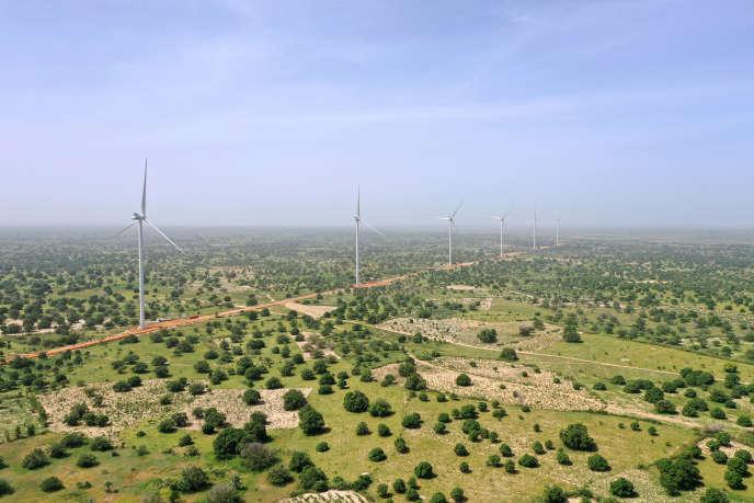 Le parc éolien de Taiba Ndiaye, au Sénégal, le 23 octobre 2019.