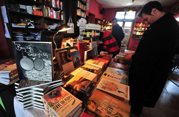 A la librairieBookworm, à Pékin, en 2009.