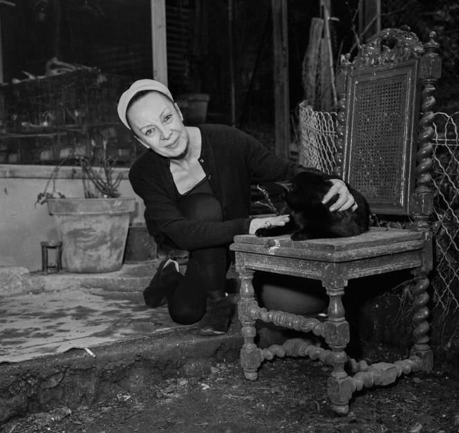 Lucette Destouches, à Meudon, le 21 février 1969.
