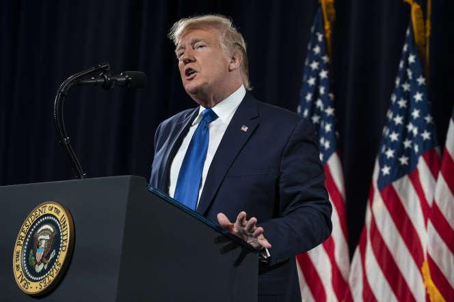 Le président Donald Trump le 8 novembre à Atlanta.