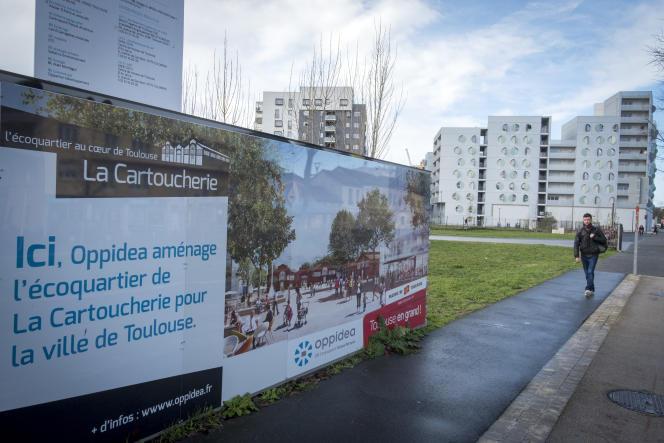 Projet d'habitat coopératif La Cartoucherie à Toulouse, en février 2018.